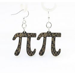 Black Pi Wood Earrings