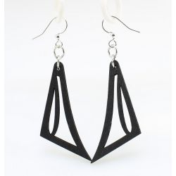 black jawline wood earrings