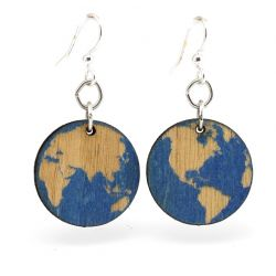 Earth wood earrings