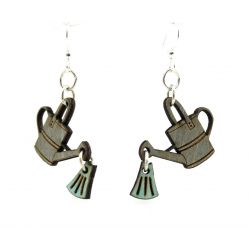 water can wood earrings
