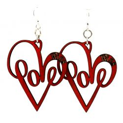 Love wins wood earrings