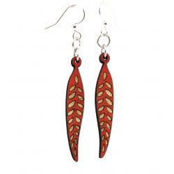 seed pod blossom wood earrings