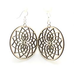 natural wood dreamcatcher earrings