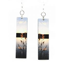 reflection wood earrings