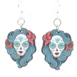 la calavera catrina wood earrings