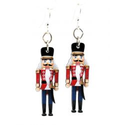 nutcracker wood earrings