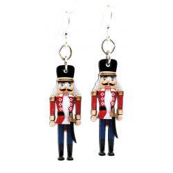 nutcracker wood earrings