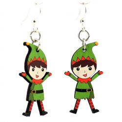elf wood earrings