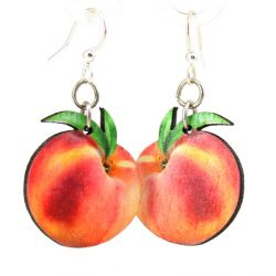 well arent you a peach wood earrings
