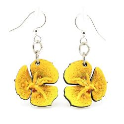 sego lily blossom wood earrings