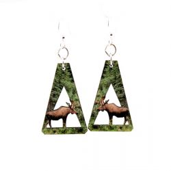 Moose wood earrings