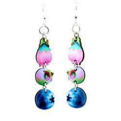 blueberry wood earrings