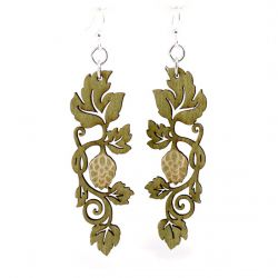 hoppy vine wood earrings