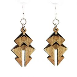 egyptian pyramid wood earrings