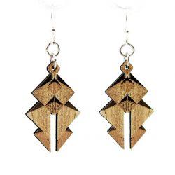 egyptian pyramid wood earrings