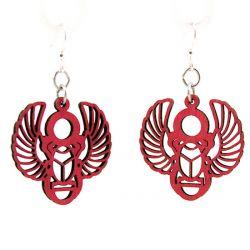 egyptian scarab wood earrings