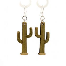 saguaro cactus wood earrings