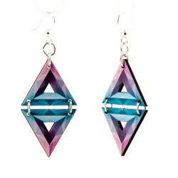 african chevron wood earrings