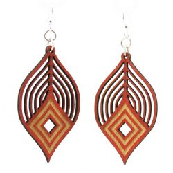 fanning diamond wood earring