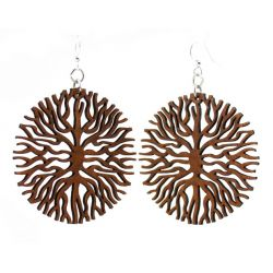 below the roots wood earrings
