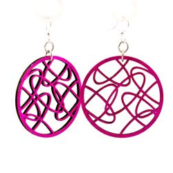 Oval Madness earrings in Fuschia