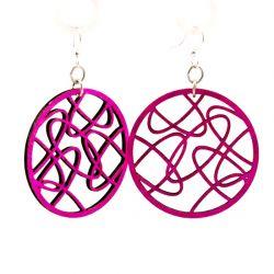 Oval Madness earrings in Fuschia