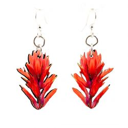 Indian paint brush blossom wood earrings