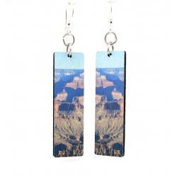 grand canyon wood earrings