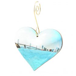 San Francisco Bay Heart Ornament