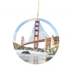 Golden Gate Bridge Wood Ornament