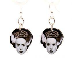 bride of frankenstein wood earrings