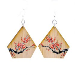 976 cherry blossom bamboo earrings