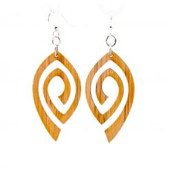 982 spiral eye bamboo earrings