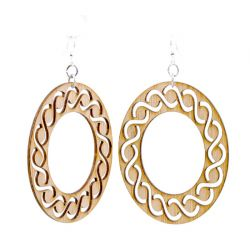 984 intertwined oval bamboo earrings