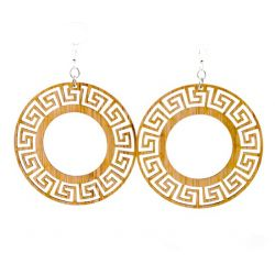 989 circle bamboo earrings