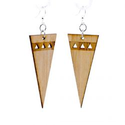 991 pointed edge bamboo earrings