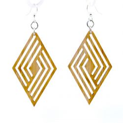 992 rhombus bamboo earrings
