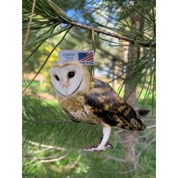 barn owl wood ornament