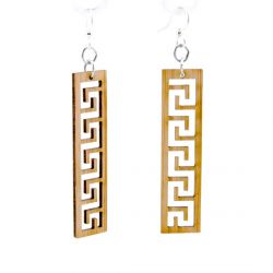 996 greek bamboo earrings