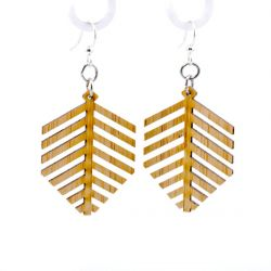 997 modern leaf bamboo earrings