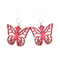 rose butterfly blossom earrings
