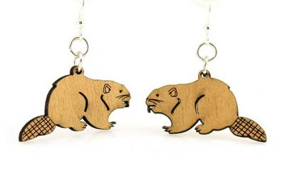 Beaver wood earrings