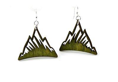 green mountain wood earrings