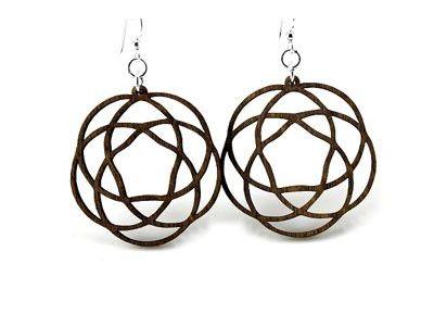 Brown Celtic Knot Wood Earrings
