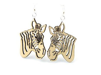 natural wood zebra wood earrings