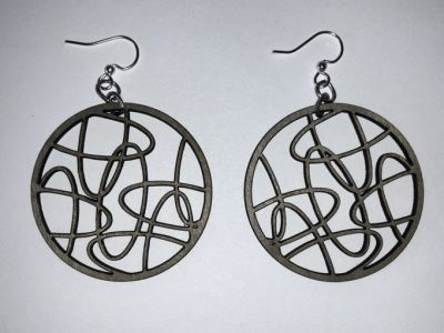 oval madness earrings in gray