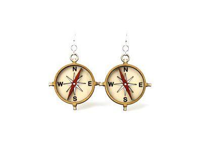 Compass Wood Earrings
