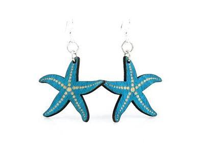 Aqua Marine Starfish Earrings