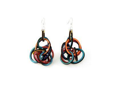 Interlocking ring earrings