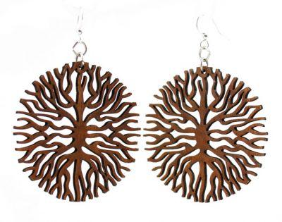 below the roots wood earrings